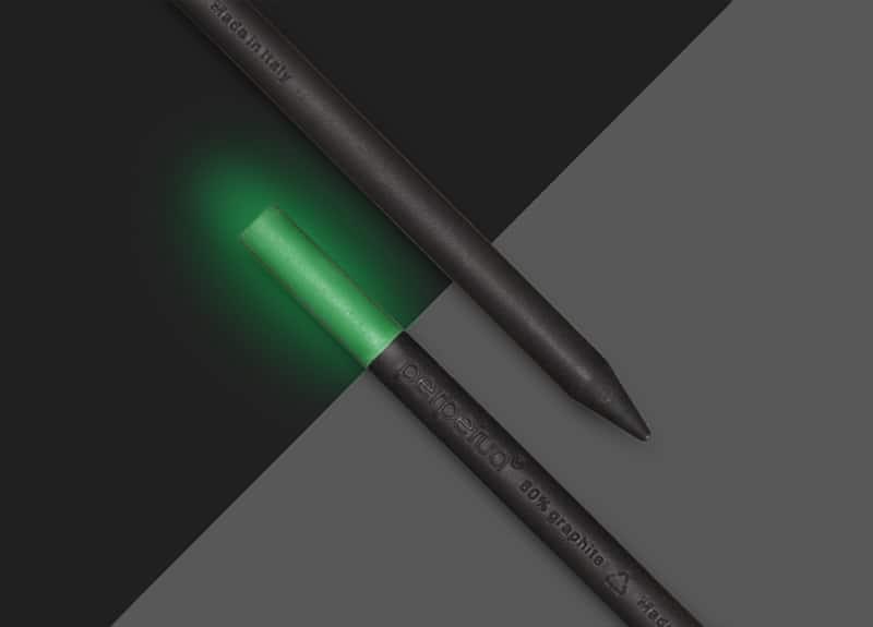 Perpetua la matita in grafite riciclata by Perpetua we had to invent it Lumina Verde