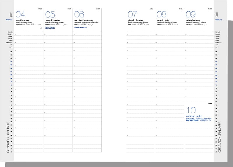 Calendario 2020 Settimanale Da Stampare.Agende E Calendari Alisea Recycled Reused Objects Design